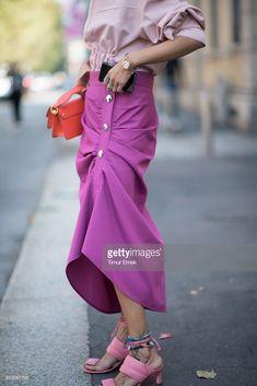 News Photo : Gilda Ambrosio seen after the Marni fashion show...