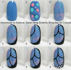 How to butterfly wing nails