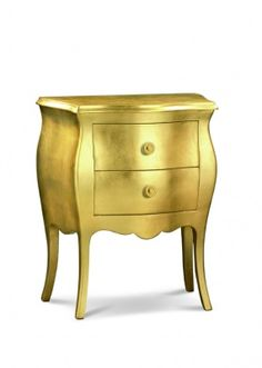Comodino foglia oro o argento cm.49x29 h.61 - Art.01252