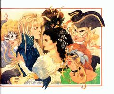 Angelophile — Illustrations from Labyrinth: The Storybook Based. Jim Henson Labyrinth, Labyrinth 1986, Labyrinth Movie, Gothic Culture, Goblin King, Alien Art, The Dark Crystal, Fantasy Movies, Art For Art Sake