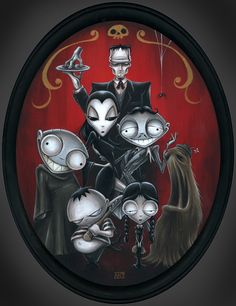 The Family by Anthony Clarkson Addams Family creepy cool dark ~A.R.
