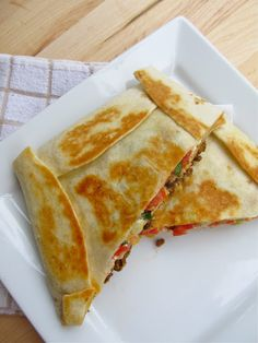 Homemade Taco Bell Crunch Wrap Supremes - what could i use instead of ground beef?