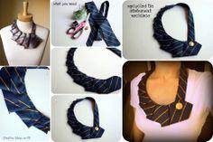 una vieja corbata puede ser un nuevo cuello para tu camiseta. Customizar tus prendas es una buena idea para renovar tu vestuarío.