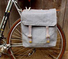 Re-purposed army bag to bike pannier. #diy #bike #bicycle