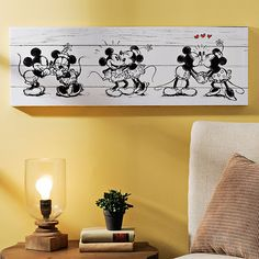 Mickey & Minnie Canvas Art Print | Kirklands