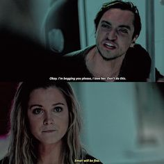 """#The100 4x08 """"God Complex"""" - Murphy and Clarke"""