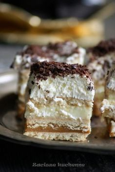 Polish Desserts, Polish Recipes, Sweet Desserts, Healthy Desserts, Sweet Bar, Tasty, Yummy Food, Cake Cookies, Love Food