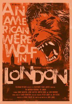 American Werewolf in London Horror Posters, Horror Films, Movie Posters, Jon Peters, John Landis, American Werewolf In London, Horror Artwork, Learning Logo, Star David