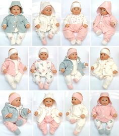 Lovely Basics, very cute baby doll patterns for larger baby dolls such as Chou Chou® dolls, Those are the dolls that I used to design these patterns. I of course have no affiliation with Zapf Creations® Easy Baby Sewing Patterns, Baby Clothes Patterns, Doll Patterns, Clothing Patterns, Sewing Doll Clothes, Sewing Dolls, Girl Doll Clothes, Baby Born Clothes, Bitty Baby Clothes