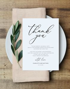 Reception Thank You Cards Thank You Note Template, Printable Thank You Cards, Thank You Notes, Thank You Letter, Wedding Quotes, Wedding Cards, Wedding Invitations, Wedding Thank You Cards Wording, Invitation Fonts