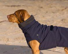 dog coat - dog jacket - dog fleece coat - dog Winter coat for all breeds - custom made soft, warm, double fleece winter coat - Fleece Dog Coat, Dog Raincoat, Dog Clothes Patterns, Coat Patterns, Dog Harness, Dog Leash, Dog Coat Pattern, Dog Winter Coat, Pet Clothes