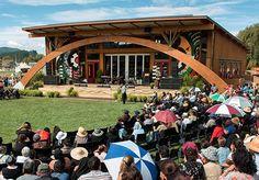 The opening of the Tuhoe Te Uru Taumatua building.