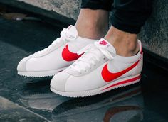 low priced 1839a d65f2 Retrouvez nos avis sur la chaussure Nike Cortez Nylon Classic White  Habanero Red (prix
