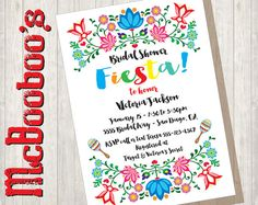 1d8d4e30859e Folkart Mexican Fiesta Bridal Shower with colorful by McBooboos