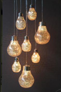 Tafellamp - Oosters - Filisky - Zilver - Mini - Zenza