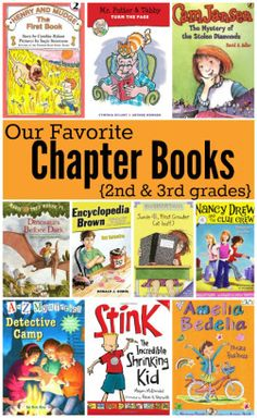 Favorite Chapter Books for 2nd and 3rd grade - Books for Visualizing