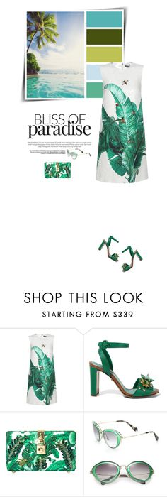 """""""Tropical vacay 🌴"""" by sophiek82 ❤ liked on Polyvore featuring Dolce&Gabbana and Miu Miu"""