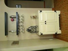 DIY Bar! Ok..this would be nice in the house. Doesnt scream 'I like booze! Lol!!