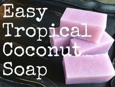 Easy Tropical Coconut Soap Soap that will leave your skin feeling silky and smooth.Soap that will leave your skin feeling silky and smooth. Coconut Soap, Coconut Oil For Skin, Soap Making Recipes, Homemade Soap Recipes, Soap Base, Bath Soap, Diy Spa, Lotion Bars, Homemade Beauty Products