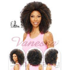 Vanessa Synthetic Hair Half Wig Express Super Weave Las Jaden