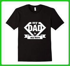 Mens My Dad Is My Hero T Shirt Small Black - Relatives and family shirts (*Amazon Partner-Link)