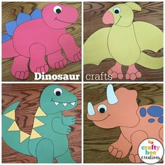 These dinosaur printables and patterns are great for a dinosaur theme in the classroom.