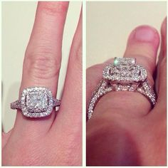 effervescent halo ring - Clearance Wedding Rings