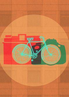 Dos placeres del viajero: bicis y fotos.