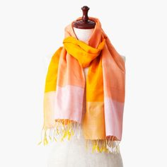 The silk stole from Cambodia named DAWN (happy dawn).