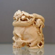 Japanese ivory scull More