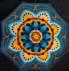 Persian Tile Crochet Blanket Pattern by Janie Crow