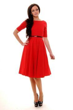 Red dress w/ belt