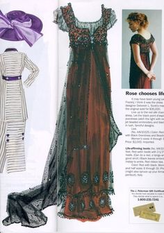 "Titanic ""Rose"" dress as inspiration, combined with a BurdaStyle pattern."