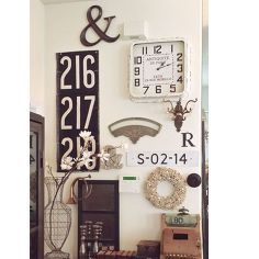 industrial chic gallery wall decor, repurposing upcycling, wall decor