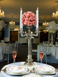 maryland wedding dramatic centerpiece 275x366 Inspiration Week:  Modern Marie Antoinette