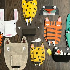 Making cardboard creatures for a workshop at the CBCA Conference tomorrow! #reimagine #hungrytiger #surprisedeyes #playwithillustration…