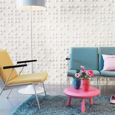 Braille Wall Flats    Lightweight dimensional wall tiles that work together through an automatic pattern repeat to create large-scale dimensional walls of any size and shape. Work in multiples to create a continuous, uninterrupted sculptural wall. The panels are molded from bagasse, one of the world's most renewable resources, they are a durable, biodegradable and environmentally friendly product. They can be installed, trimmed and painted with commonly available products and tools.