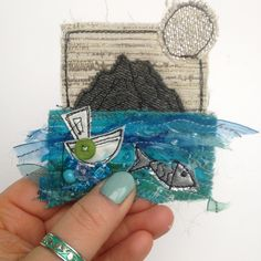I've just given my Etsy shop a little bit of much needed love and attention! Lots of new stock just added, including some teeny weeny Irish landscapes and seascapes ☘️ Freehand Machine Embroidery, Free Motion Embroidery, Folk Embroidery, Free Machine Embroidery, Fabric Cards, Fabric Postcards, Art Textile, Textile Artists, Happy Star Wars Day