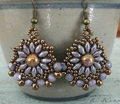 Linda's Crafty Inspirations: Gypsy Earrings - Violet Luster