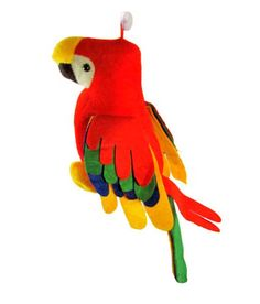 Musical Parrot Soft Toy 12 inches with tail 25 inch Parrot, Musicals, Plush, Bird, Toys, Cushion, India, Sewing, Games