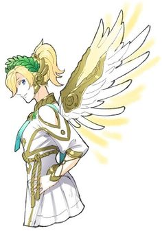 Overwatch Winged Victory Mercy sbms @sabaumeeee サマーゲームお疲れ様でした!