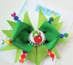 Hey, I found this really awesome Etsy listing at https://www.etsy.com/listing/156263015/the-very-hungry-caterpillar-bow-hungry