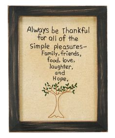 Look at this 'Always Be Thankful' Framed Wall Art on #zulily today!