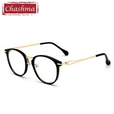 26b22565a Chashma Brand Stainless Round Frame armacao oculos de grau Quality Frames  Female Retro Eyeglasses Vintage Eye Glasses
