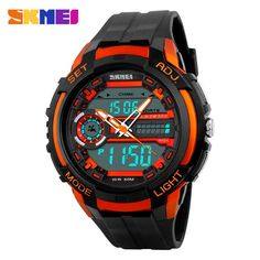 Buy now 50M Waterproof Mens Sports Watches Relogio Masculino 2017 Hot Men Silicone Sport Watch Reloj S Shockproof Electronic Wristwatch just only $12.99 with free shipping worldwide  #menwatches Plese click on picture to see our special price for you