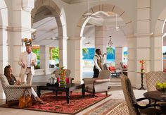 Sandals Grande St. Lucian open-air lobby. | Sandals Resorts | St. Lucia