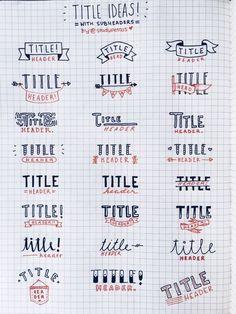 bullet journal title fonts에 대한 이미지 검색결과