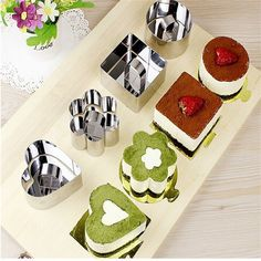 Pastry Stainless Steel Cookie Fondant Cheese Pan Mousses Cake Mould Baking Dessert Bakeware Molds Fruit Cutter Tool