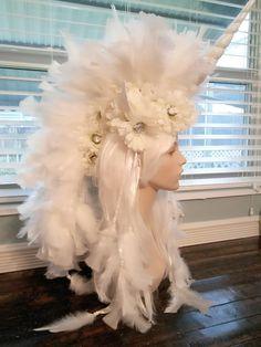 #Mohawk #unicorn #edc #unicornheadpiece #white #gothheadpiece #Rave #cosplay #BurningMan #unicornbirthday #bigunicornheadpiece #dubstep #miamibeach #miami #floridasupercon #mylittelpony #flsupercon #Bubblegumgoth #wedding #gaypride #MardiGras #girlpower #headdress #headpiece #moonbaby #whitewedding Sold at Pamzylove.com Unicorn Halloween, Unicorn Costume, Unicorn Party, Sexy Halloween Costumes, Diy Costumes, Halloween Fun, Unicorn Headpiece, Mannequin Art, Unicorn Makeup
