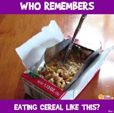 Cereal out of the box